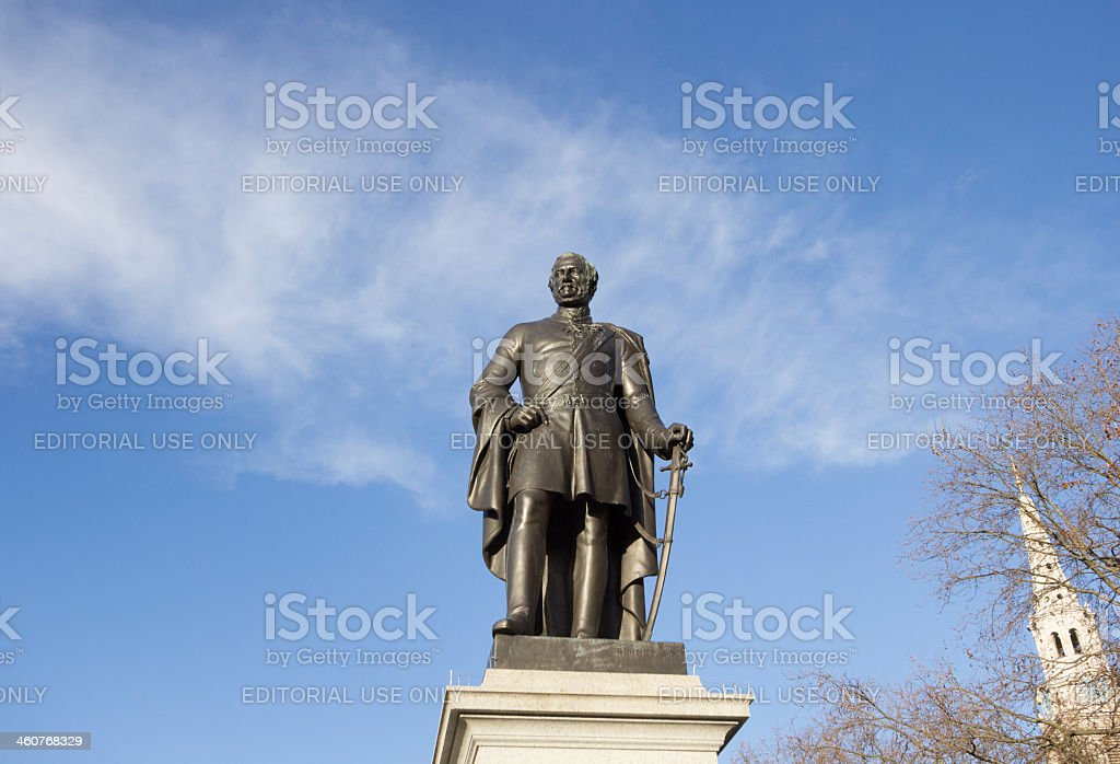 Major-General Sir Henry Havelock in Trafalgar Square, London stock photo