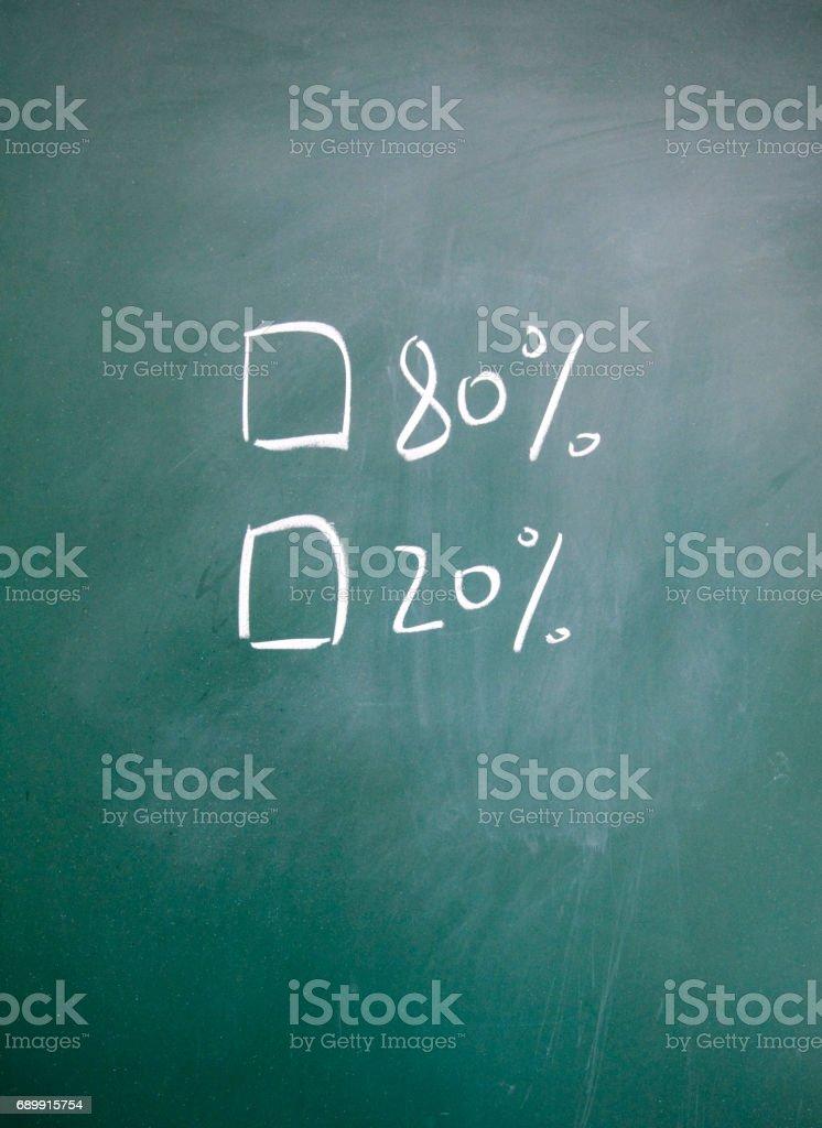 Majority and minority  choice stock photo
