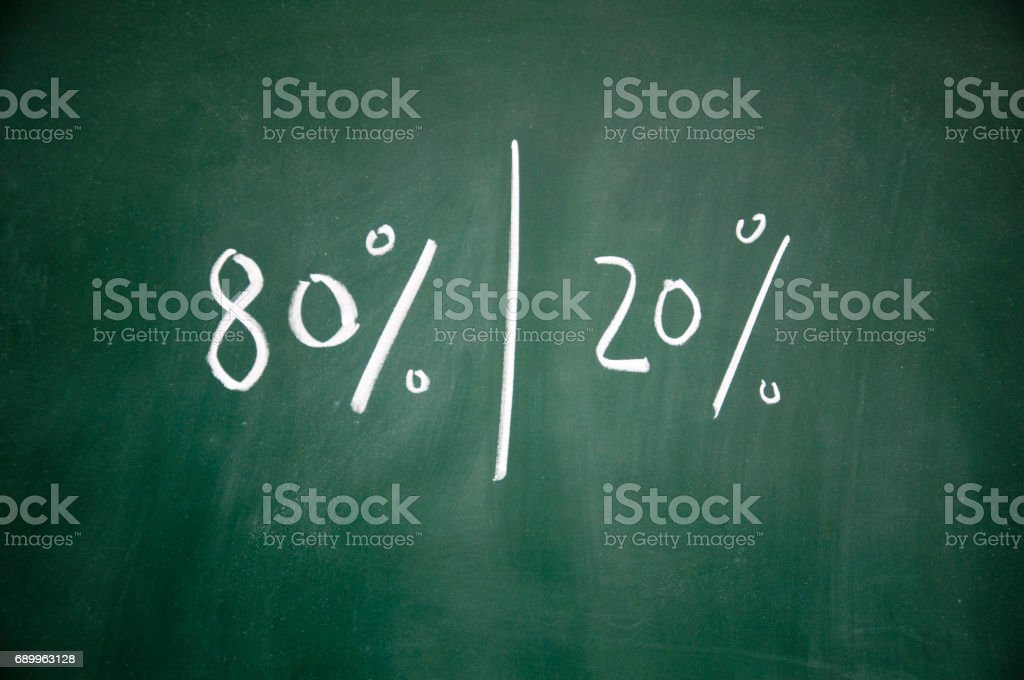 Majority and minority  sign stock photo