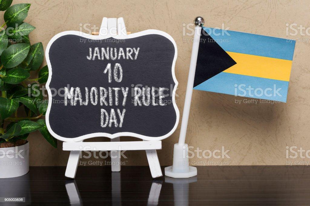Majority Rule Day,national holiday in Bahamas stock photo