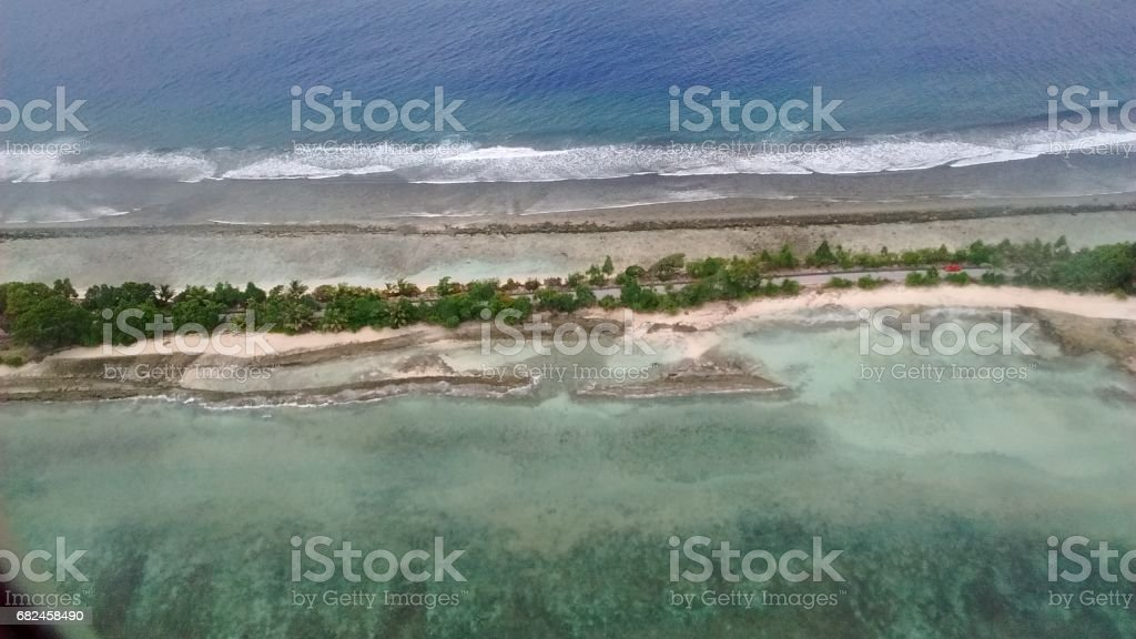 Majuro Marshall Islands from the Air stock photo