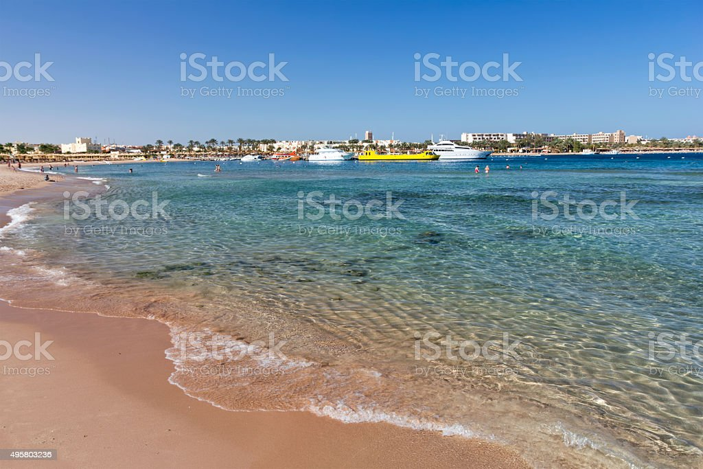 Makadi Bay on the Red Sea, Egypt stock photo