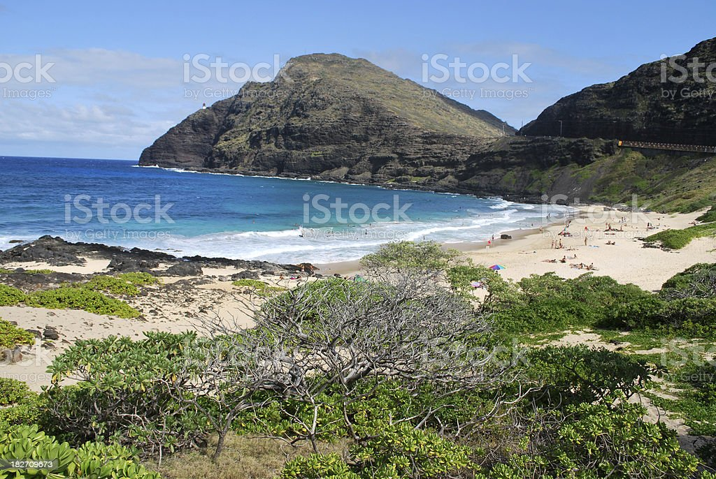 Makapuu Beach Park in Oahu stock photo
