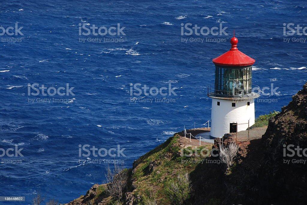 Makapuu Lighthouse, Oahu, Hawaii,USA stock photo