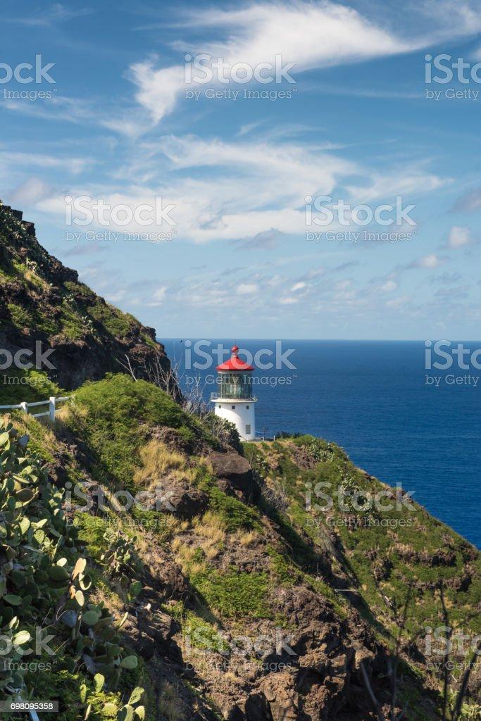 Makapu'u Point Lighthouse, Oahu, Hawaii stock photo