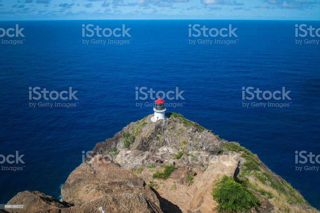 Makapu'u Point Lighthouse, southeastern point on Oahu, Hawaii stock photo