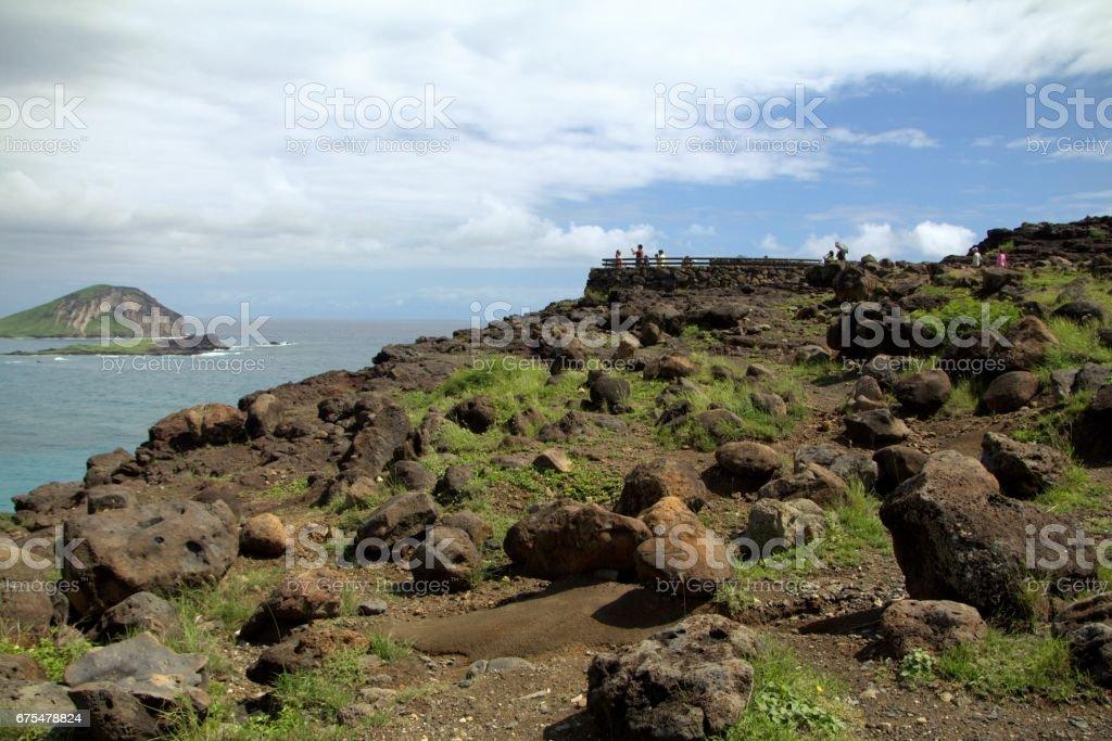 Makapu'u Point Lookout, Oahu, Hawaï photo libre de droits
