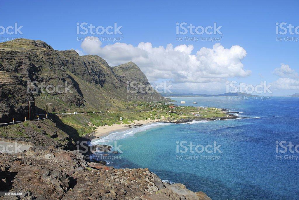 Makapuu point, Oahu, Hawaii stock photo