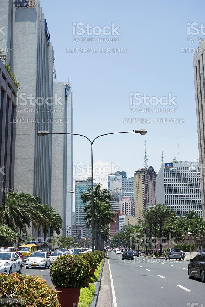 Makati City in Metro Manila royalty-free stock photo
