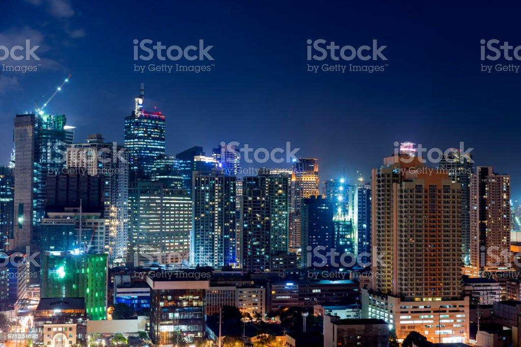 Makati city of Manila stock photo