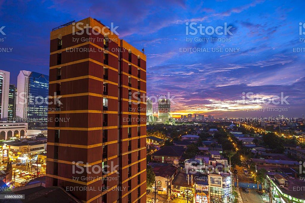 Makati Manila Skyline royalty-free stock photo