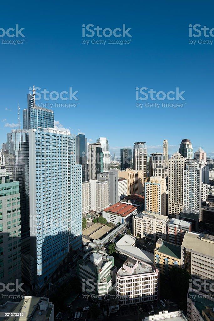 Makati Skyline, Metro Manila - Philippines photo libre de droits