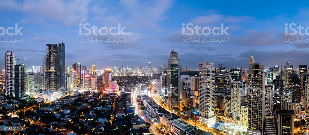 Makati Skyline, Metro Manila - Philippines stock photo