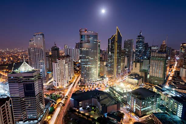 Makati Skyline, Metro Manila - Philippines stock photo