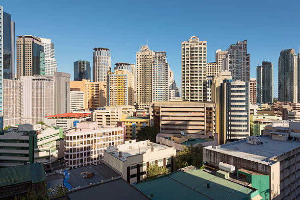 Makati Skyline, Metro Manila stock photo