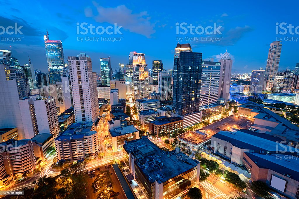 Makati skyline (Manila - Philippines) stock photo