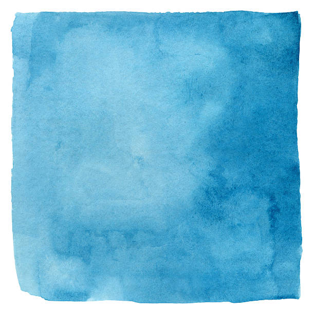 Makayan Blue Watercolour Square stock photo