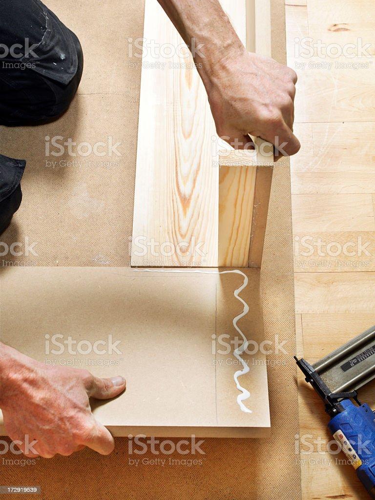 DIY make a bed stock photo