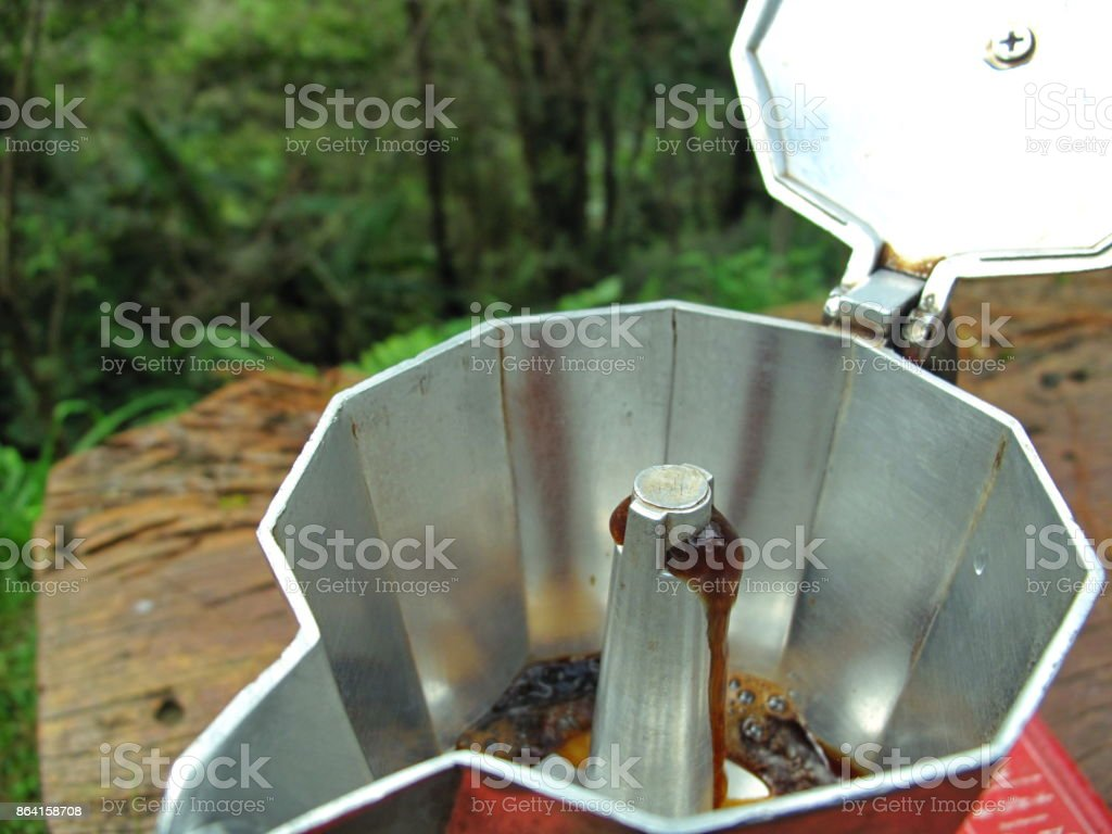 make a cup of coffee royalty-free stock photo