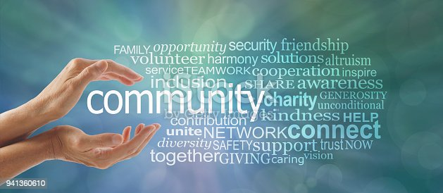 istock Make a Difference in Your Community Word Cloud 941360610