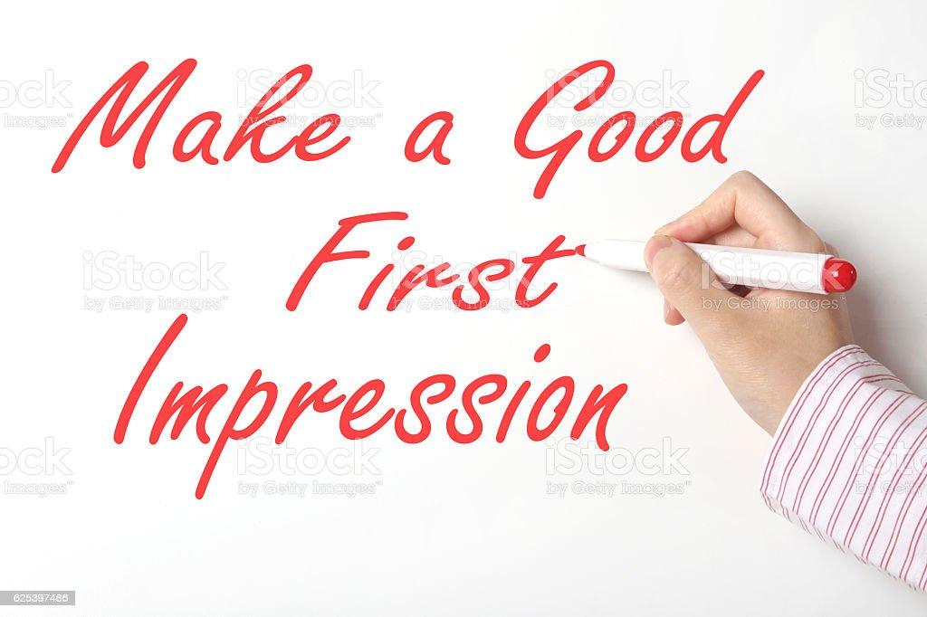 Make a good first impression concept stock photo
