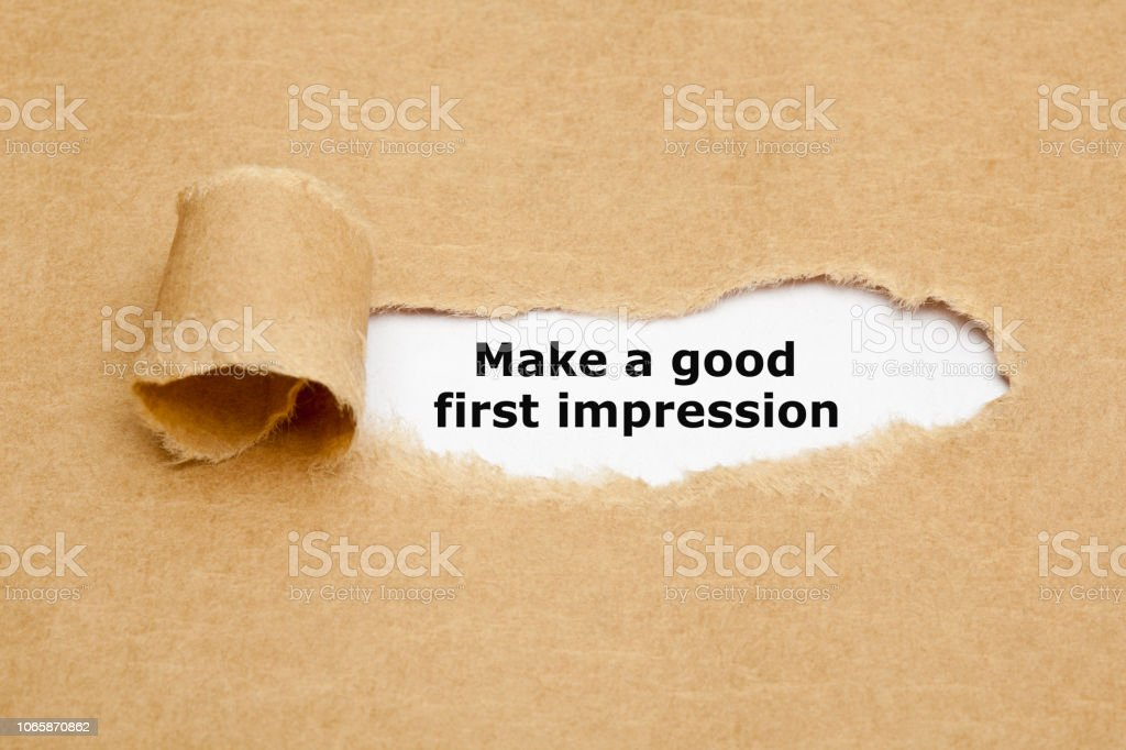 Make A Good First Impression stock photo