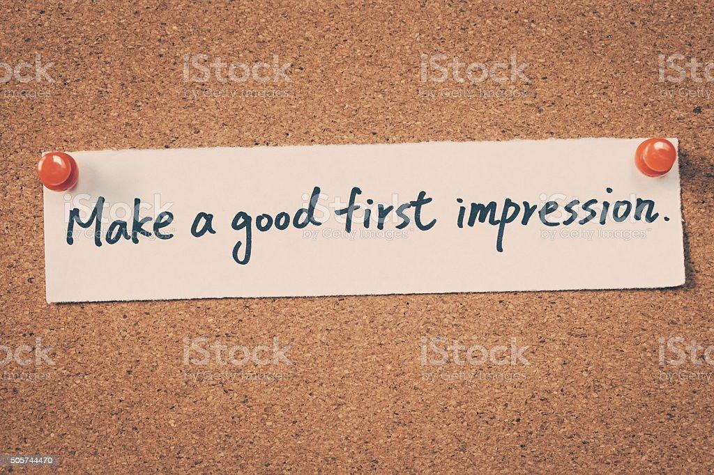 Hacer una buena primera impresión - foto de stock