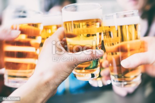 istock Make a toast with a beer 667820346
