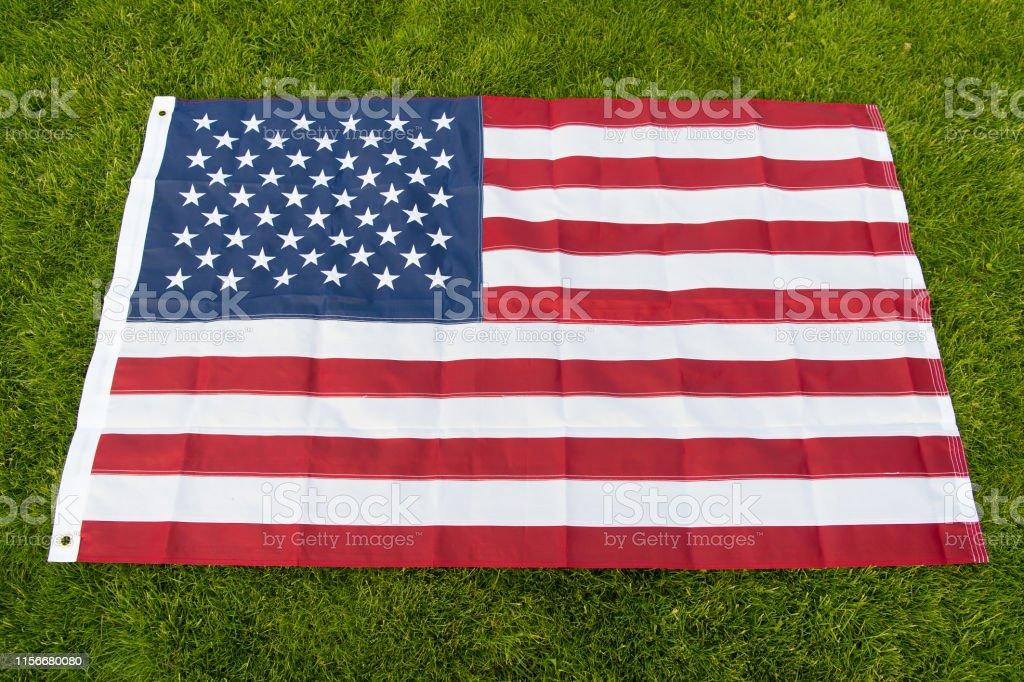 Make America Great Again American Flag Green Grass Background