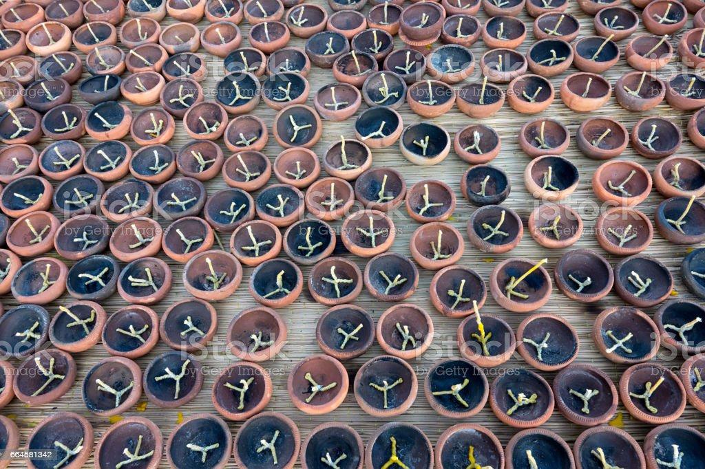 make candles used at Loy krathong festival royalty-free stock photo
