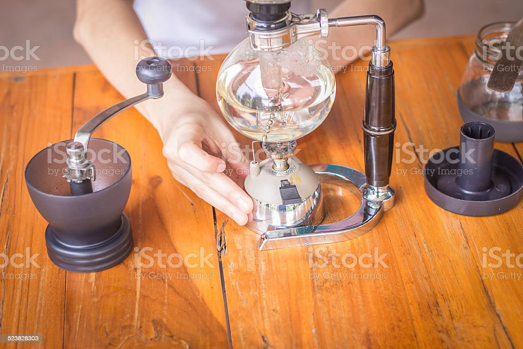 make coffee stock photo