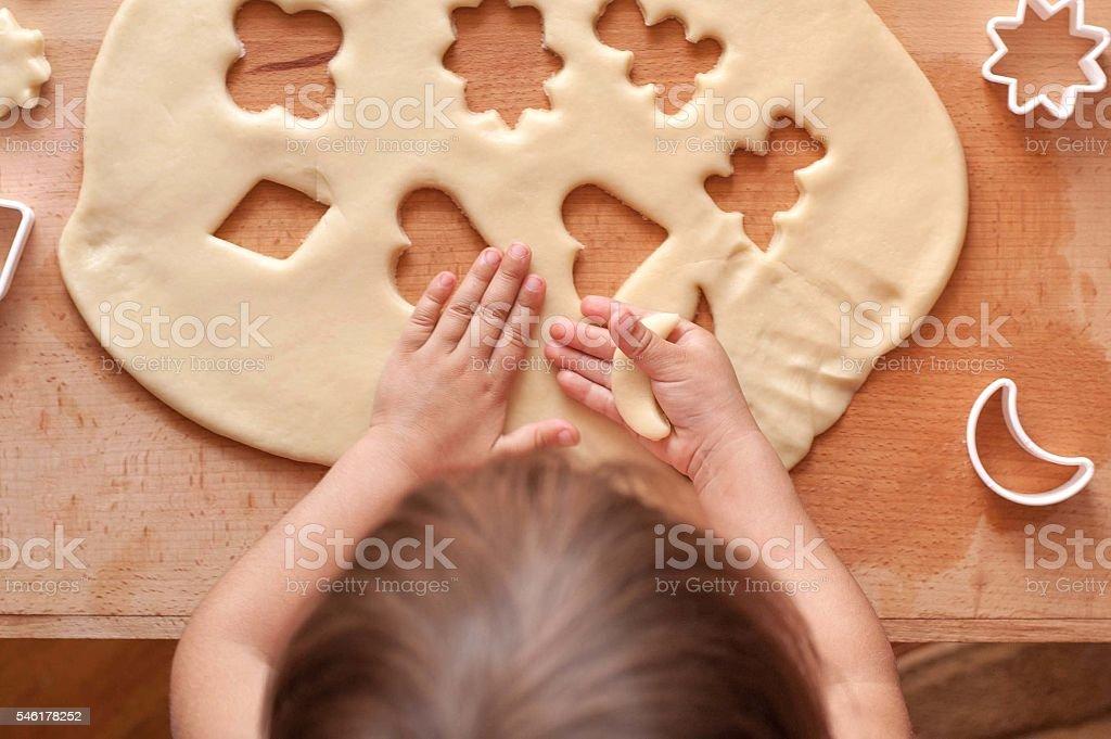 Make cookie dough stock photo