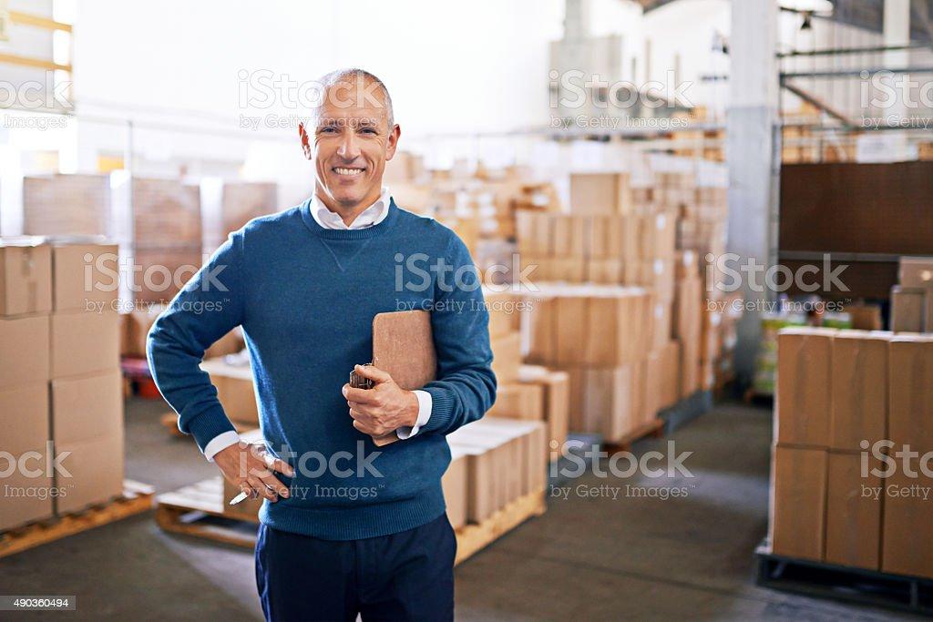 I make distribution look easy! stock photo