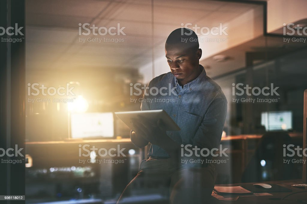 Make every late night count stock photo