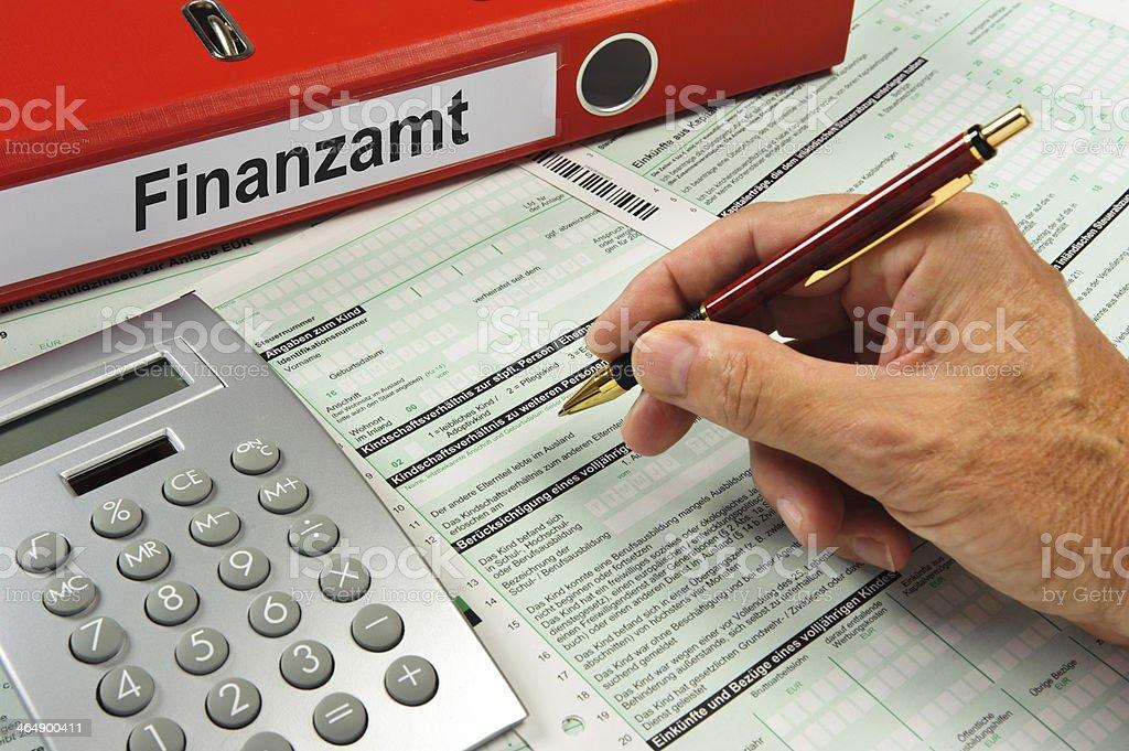 Deutsche Steuererklärung - Lizenzfrei Akte Stock-Foto
