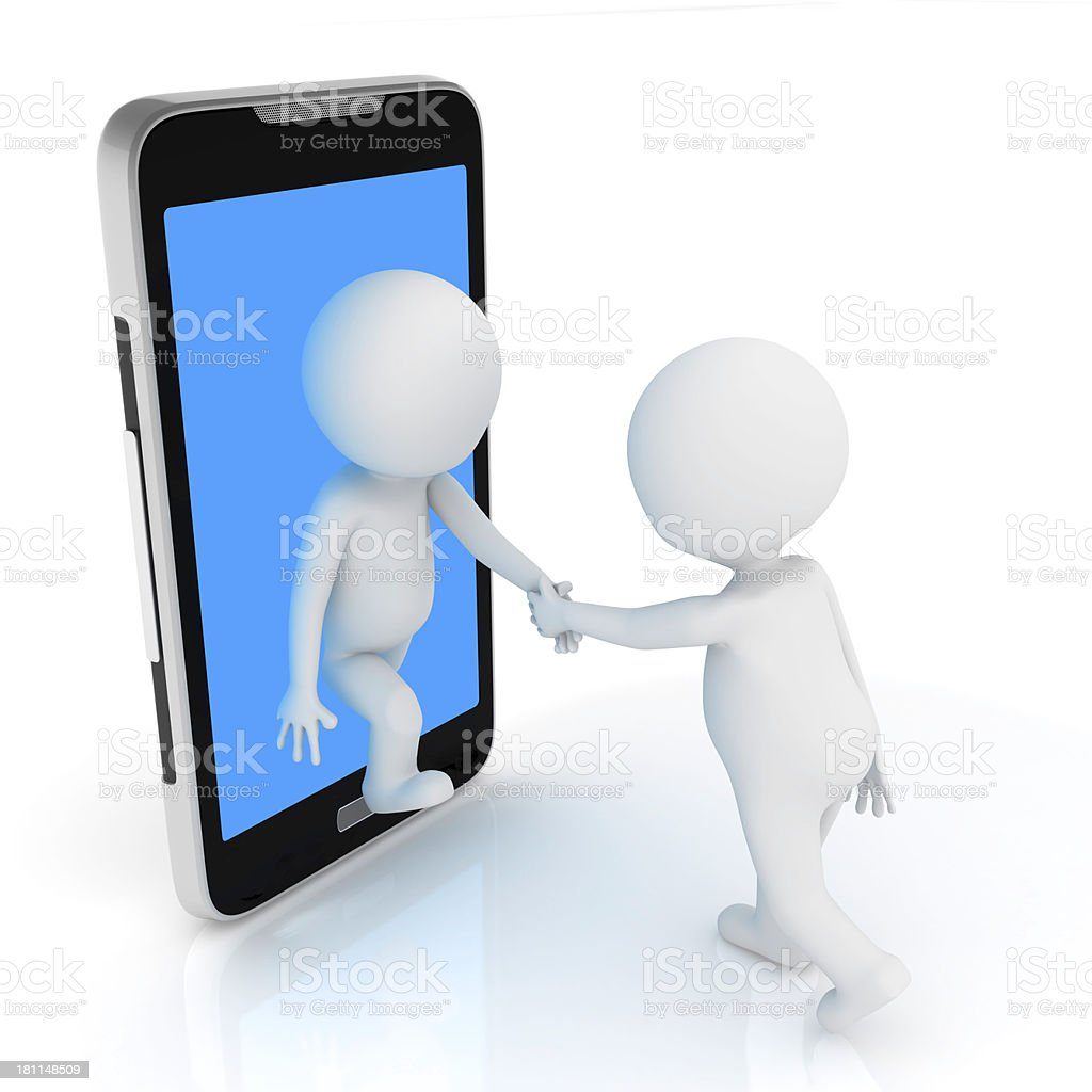 make friend with phone royalty-free stock photo