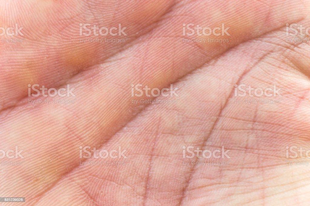 Make Hand Skin Inner Surface stock photo