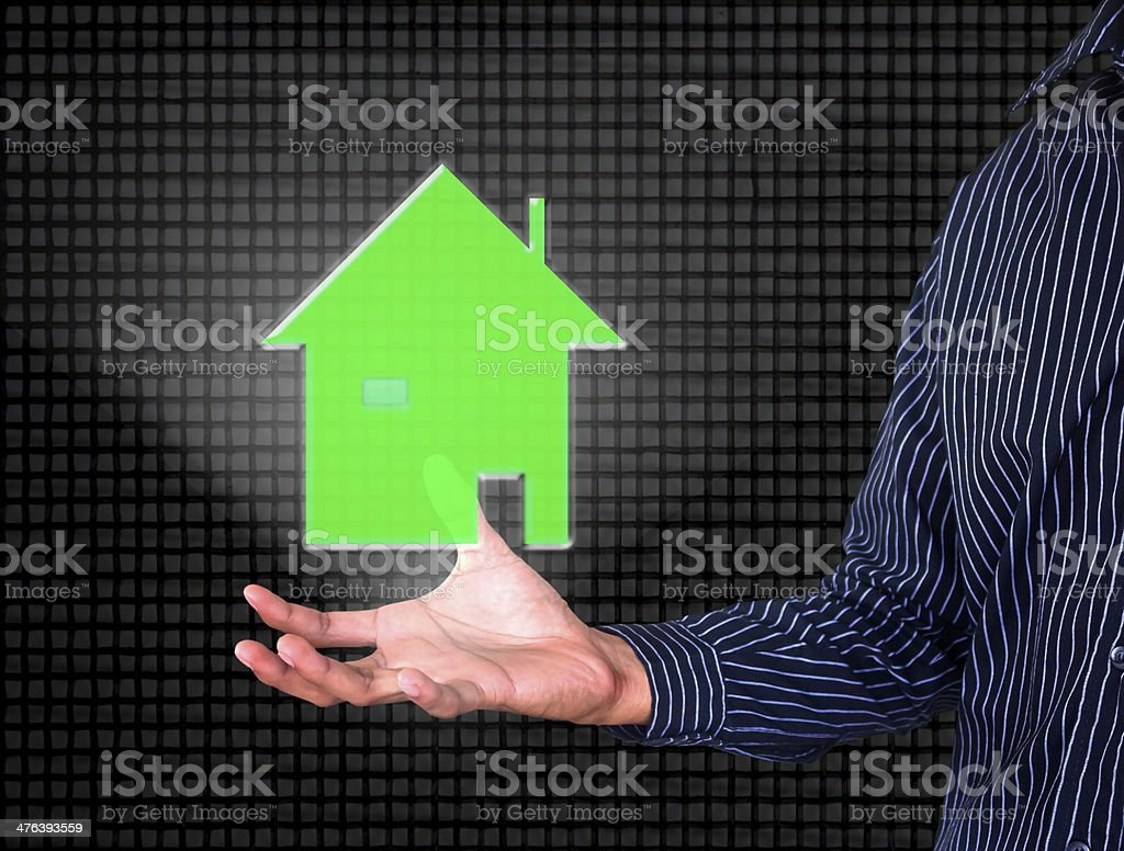 make home by hands royalty-free stock photo