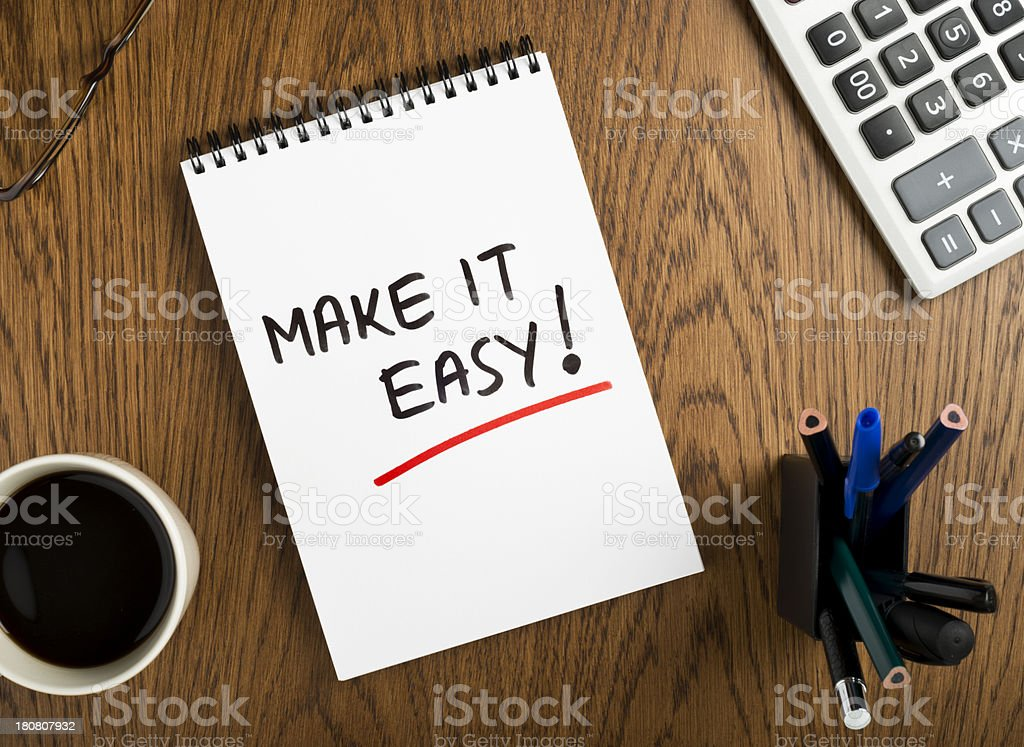 make it easy! stock photo
