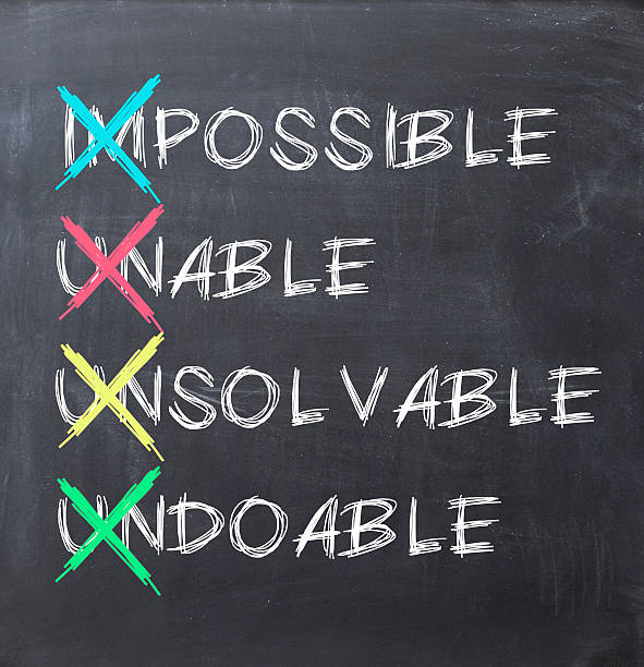 make it possible concept - attitude stock photos and pictures