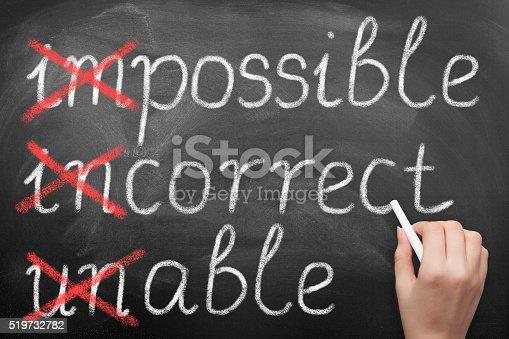 istock Make it possible on blackboard 519732782