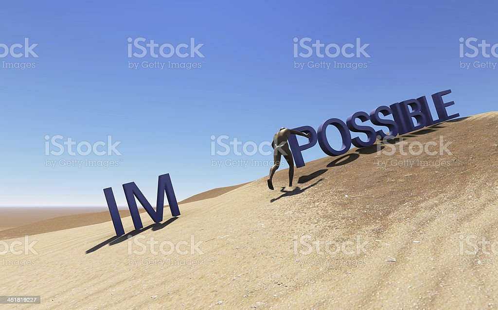 Make it possible stock photo