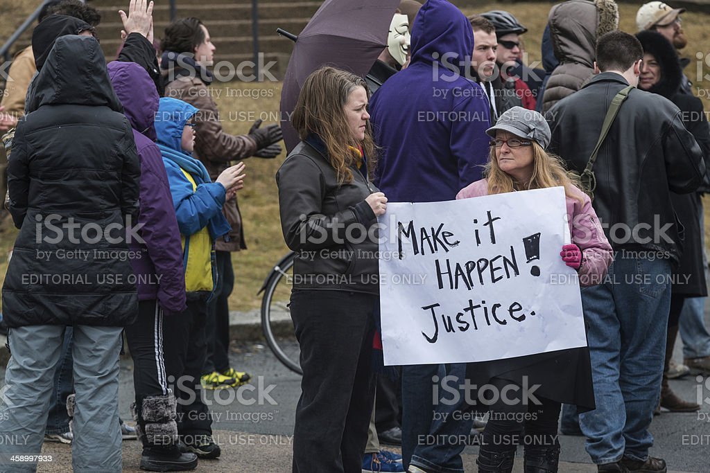 Make Justice Happen stock photo