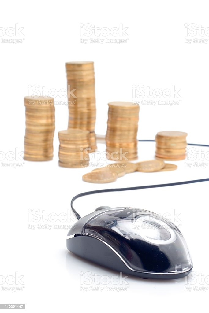 Make money over the internet royalty-free stock photo