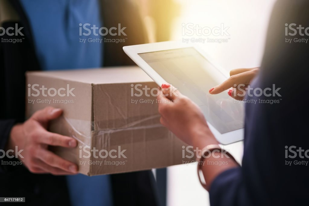 Make paperwork a thing of the past stock photo