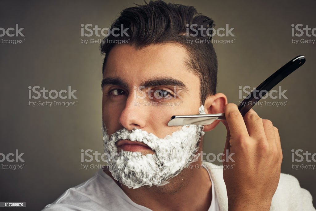 Make sure that it's neat and trimmed stock photo