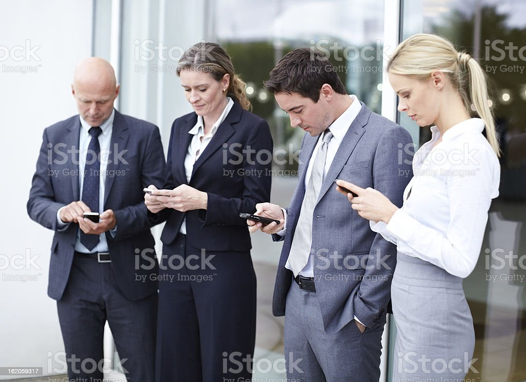 Make sure they get the message royalty-free stock photo
