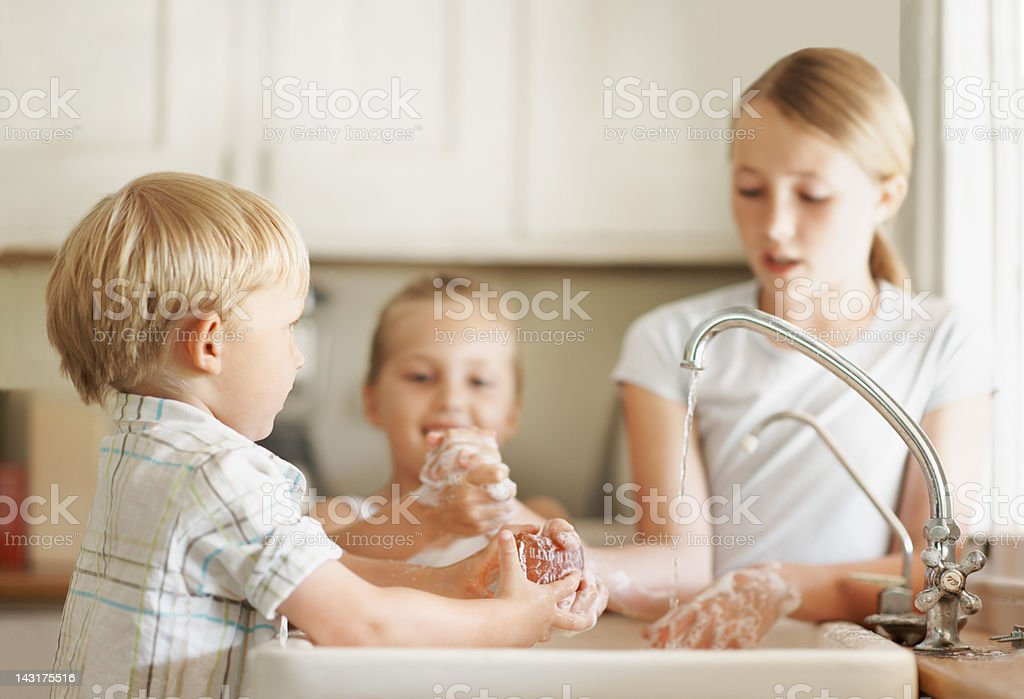Make sure to clean away all the dirt royalty-free stock photo