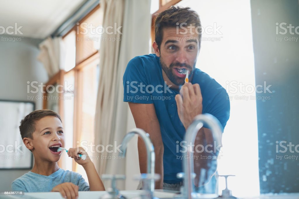 Make sure you get those teeth at the back stock photo