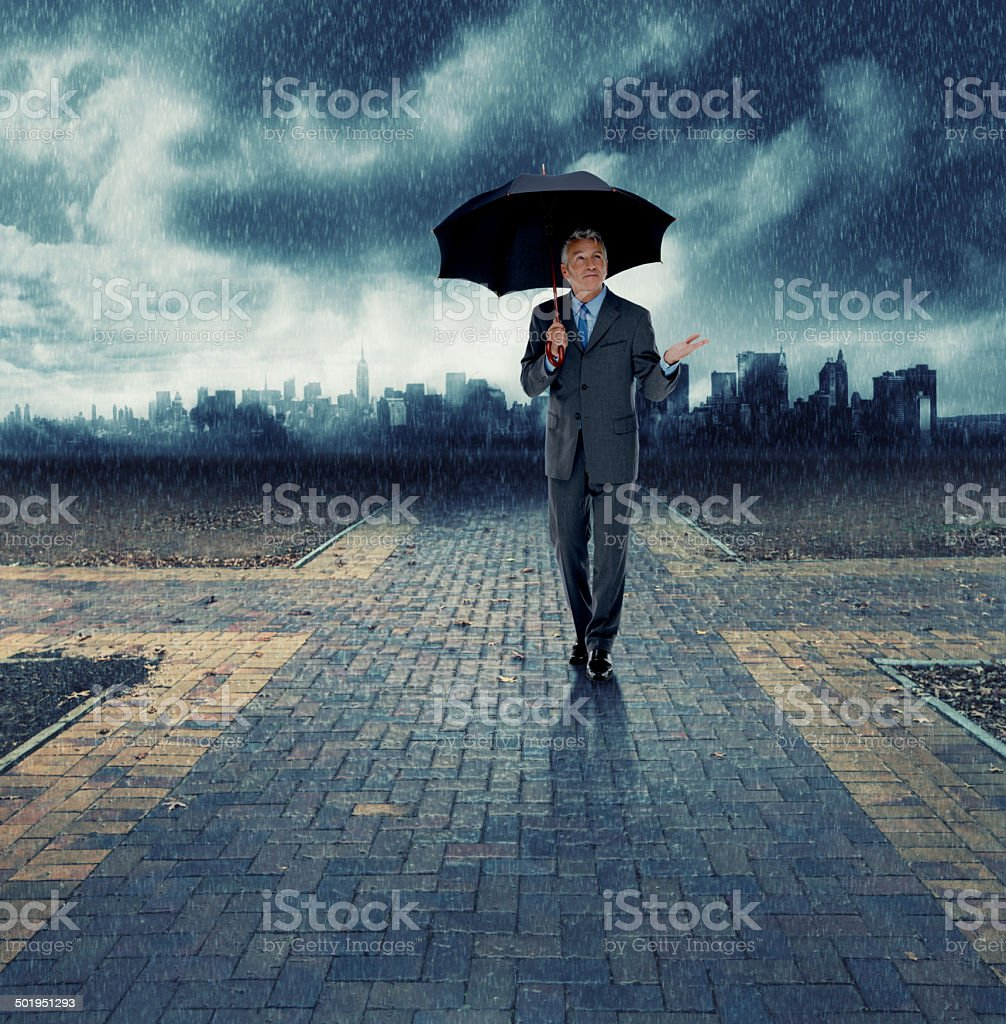 Make sure your business stays safe during the storm stock photo
